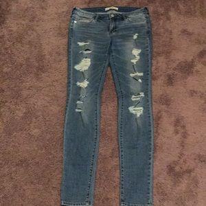 A&F distressed skinny jeans